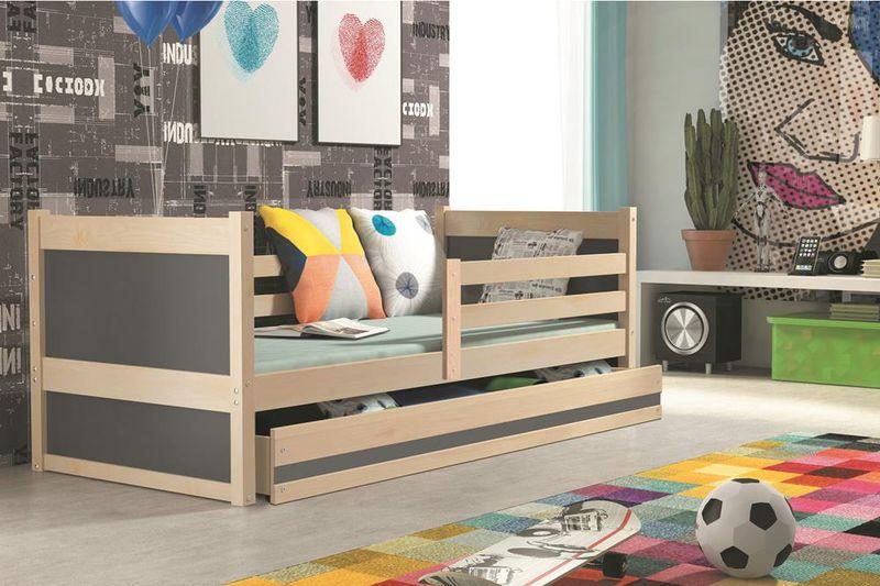Łóżko RICO dla dzieci pojedyncze dla jednej osoby 190x80 + MATERAC zdjęcie 12