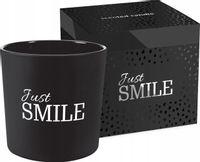 Świeca zapachowa w matowym szkle BISPOL 40H JUST SMILE