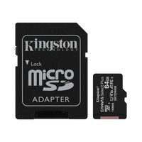 Kingston Canvas Select Plus microSDXC - Karta pamięci 64 GB A1 Class 10 UHS-I U1 V10 100 MB/s z adapterem