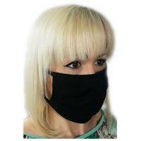 Czarna maseczka bawełniana maska na twarz