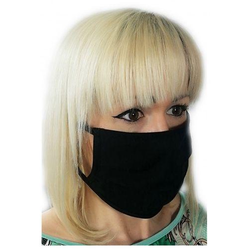 Czarna maseczka bawełniana maska na twarz na Arena.pl