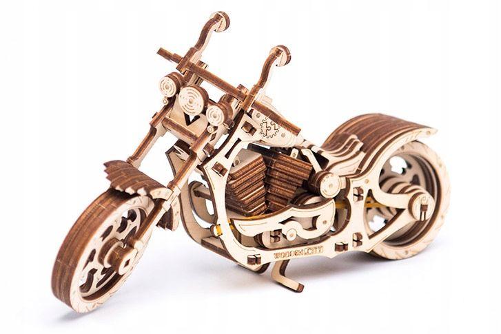 Motocykl Mechaniczne Puzzle 3D Drewniane Wooden City zdjęcie 13