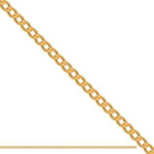 60cm łańcuszek typu pancerka złoto 585
