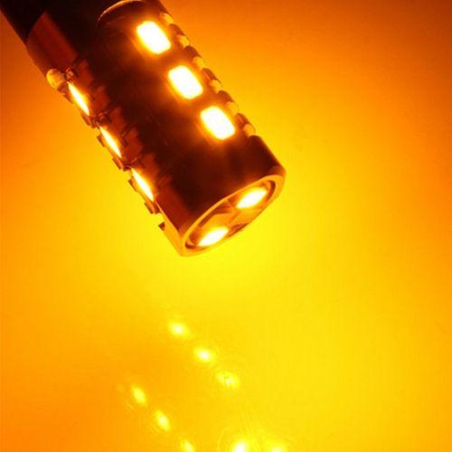 ŻARÓWKA LED biało pomarańczowa 3157, 3057, P27/7W,  12V CANBUS 880lm na Arena.pl