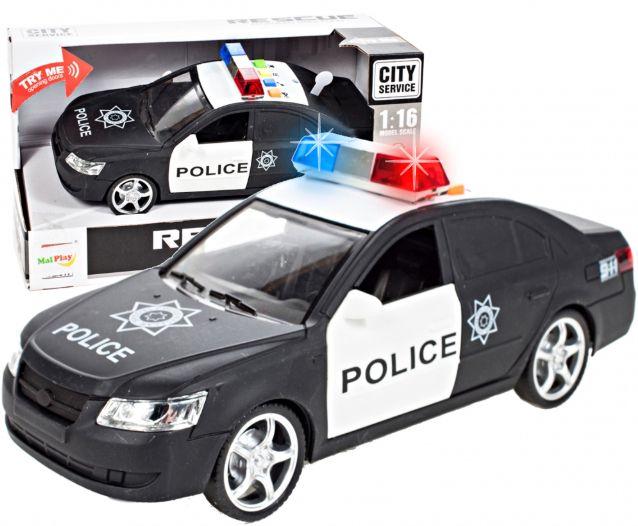 Samochód policyjny Radiowóz interaktywny dźwięki i światła Y259 zdjęcie 1