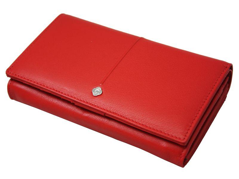 Skórzany, czerwony portfel damski Samsonite RFID zdjęcie 8