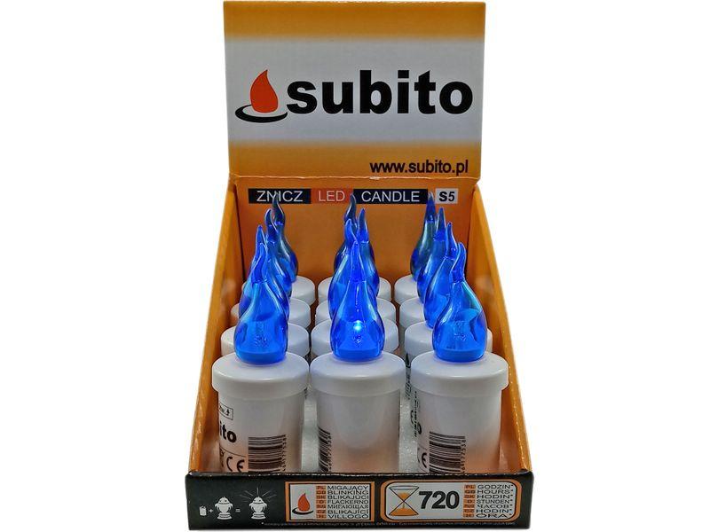 Wkłady wkład do zniczy S5 LED NIEBIESKI 720 GODZ +BATERIE zdjęcie 1