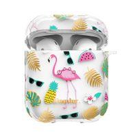 Kingxbar Airpods Case Silikonowe Etui Z Kryształami Swarovskiego Pudełeczko Na Słuchawki Airpods Flamingo