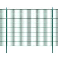 2D Panele i słupki ogrodzeniowe 2008x1630 mm 22 m zielone