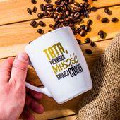 KUBEK CERAMICZNY do kawy herbaty BIAŁY 300ml