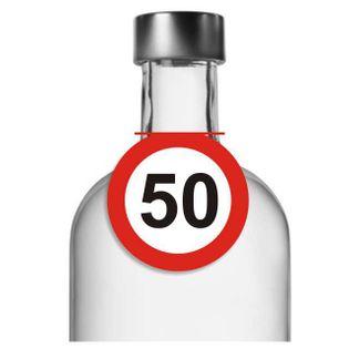 """Zawieszki na alkohol, """"Urodziny 50 Traffic Birthday"""", 10 szt"""