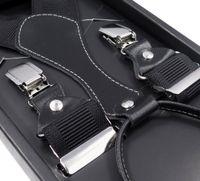 Czarne szelki męskie do spodni Modini Prestige - Wysoka jakość