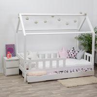 Łóżko domek z szufladą i materacem