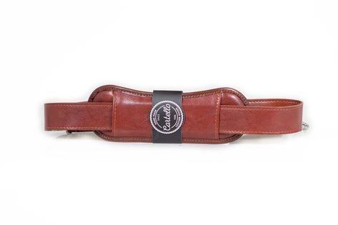 Uniwersalny, skórzany pasek do torby na ramię szerokość 40mm Koniakowy