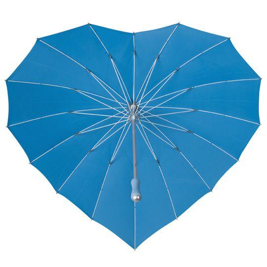 Parasolka w kształcie serca w kolorze błękitnym zdjęcie 4