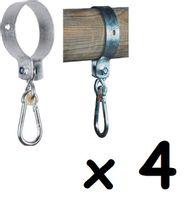 Zestaw obejm okrągłe do huśtawki 4 szt. 120mm 12cm