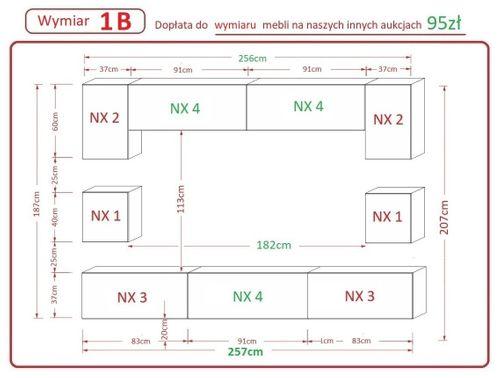 Nowoczesny Zestaw mebli NOWARA N1 Połysk LED Nowość! meblościanka na Arena.pl