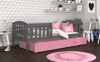 Łóżko dla dzieci KUBUŚ P COLOR 190x80 szuflada + materac