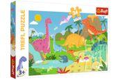Trefl 14284 Puzzle Maxi Dinozaury 24 el