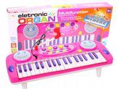 Keyboard Organy Pianino dla dzieci z mikrofonem Różowe Y257R