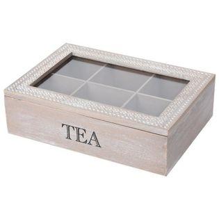 Drewniany Pojemnik Organizer Na Herbatę Ekspresową