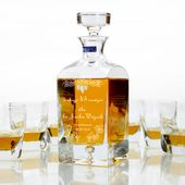 Karafka komplet DO whisky szklanek grawer URODZINY