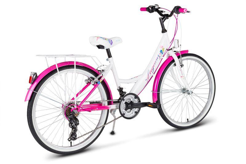 Rower 24 KANDS LAGUNA VS-1 ZWK biało-różowy zdjęcie 9
