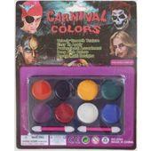 Farby do malowania twarzy - 8 kolorów