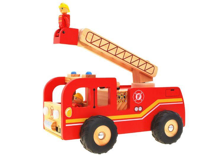WIELKA Straż Pożarna wóz strażacki DREWNO ZA1809 zdjęcie 2