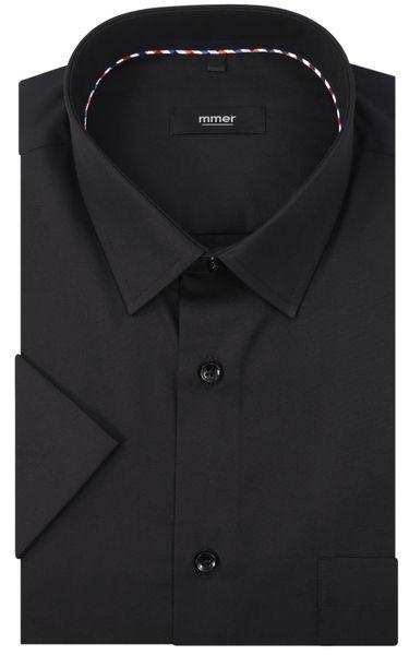 Czarna koszula na krótki rękaw 006K Rozmiar koszuli i fason - 176-182 / 45-Slim zdjęcie 2