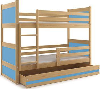 Łóżko dziecięce dla dzieci RICO 190x80 piętrowe + SZUFLADA + MATERACE
