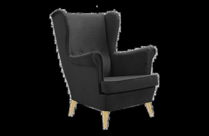 Fotel tapicerowany USZAK skandynawski pikowany SZYBKA DOSTAWA kolory zdjęcie 4