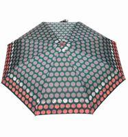 MOCNA automatyczna parasolka marki PARASOL, ciemnozielona w grochy