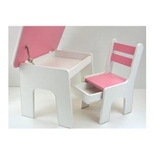 Otwierany stolik z krzesełkiem z szufladą - kolory