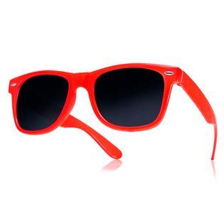 Okulary przeciwsłoneczne WAYFARER nerdy kujonki # CZERWONE