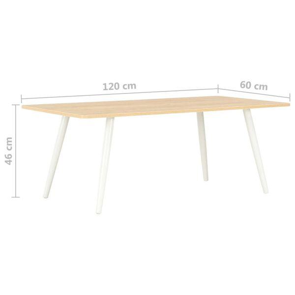 Stolik kawowy biało-dębowy 120x60x46cm VidaXL na Arena.pl