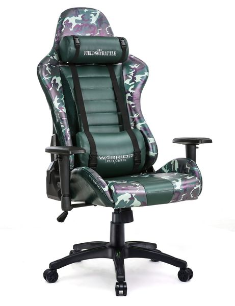 Fields of Battle FOREST CAMOUFLAGE fotel gamingowy Warrior Chairs zdjęcie 2
