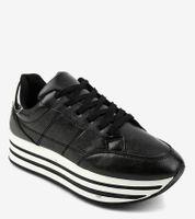 Czarne modne damskie obuwie sportowe 230-1 38