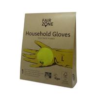 Rękawice wielorazowe do prac domowych rozm. L, naturalna guma 1 para Fair Zone