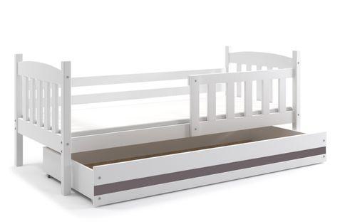 Łóżko Kubuś parterowe dla dziecka 160x80 pojedyncze + MATERAC