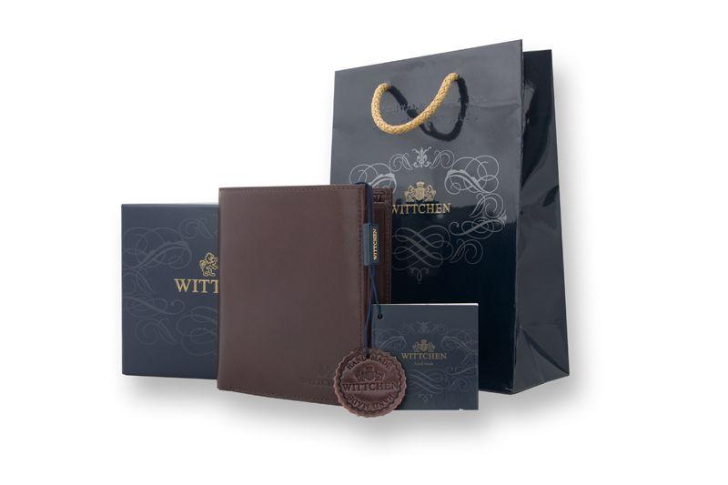 Duży, brązowy, skórzany portfel Wittchen, RFID, kolekcja: Italy zdjęcie 6
