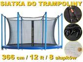 WEWNĘTRZNA SIATKA OCHRONNA DO TRAMPOLINY TRAMPOLINA 366 12ft