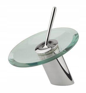 Bateria umywalkowa szklana glas