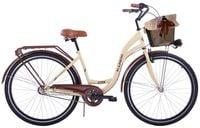 (K23) Rower miejski damski Kozbike 28 kremowo-brązowy