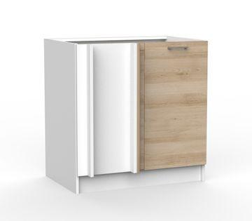 BRYGIDA szafka kuchenna stojąca narożna z drzwiczkami MATOWA 105 cm