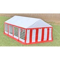 VidaXL Namiot imprezowy 4 x 8 m, czerwony