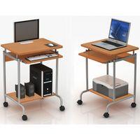 Biurko komputerowe  600x450 na kółkach - stolik komputerowy TECHLY