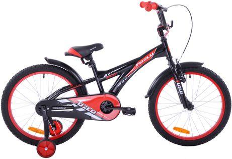 Rower dziecięcy 20 Fuzlu Eco czarno-czerwony