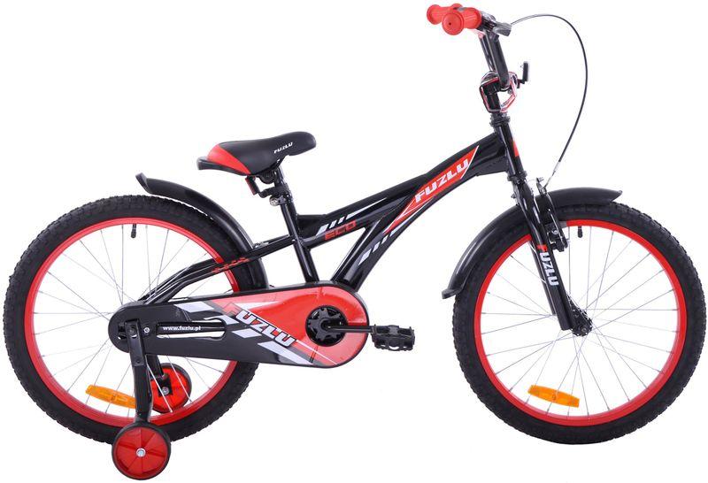Rower dziecięcy 20 Fuzlu Eco czarno-czerwony na Arena.pl
