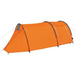 Namiot turystyczny 4-osobowy, szaro-pomarańczowy